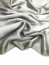 Elegant Satin Hijab 7 crystal row scarf wrap shawl occasion Party turkish style