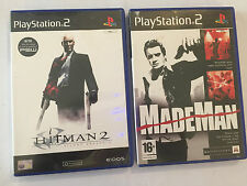 2 BOXED ORIGINAL SONY PLAYSTATION 2 PS2 GAMES MADE MAN +HITMAN 2 SILENT ASSASSIN