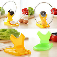 Spoon holder Pot Lid Shelf Cooking Tools Storage Kitchen Decor Tool Stand HF