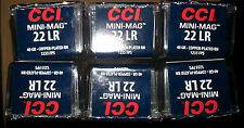 6x CCI MINI-MAG 22 LR Long Rifle PLASTIC Ammo Box Case Storage Containers