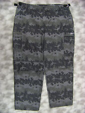 Harley Davidson Mens Ripstop Cargo Pants Sz 44x32 Gray Camouflage Flames Cotton