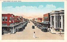 c.1920 Stores Early Cars Main St. Mc Allen TX post card McAllen