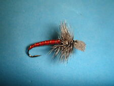 FLY FISHING FLIES - Red Hackled CHIRONOMID EMERGER size #12 (6 each)