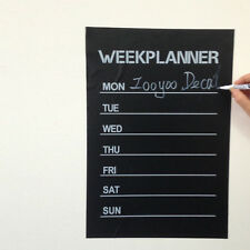 week planner chalkboard Vinyl stickers office living room decoration note label