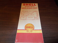 1955 Shell North Atlantic States Vintage Road Map