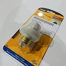 Westek 6009B 100W Full Range Lamp Socket Manual Dimmer, White NEW