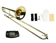 NEW Merano Gold Brass Trombone,Zippered Hard Case,Tuner Student to Intermediate