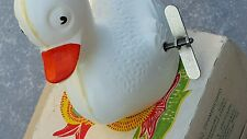 VINTAGE TOY DUCK BIRD ORIGINAL KEY RUSSIA USSR CCCP WIND UP WORKS GREAT & BOX
