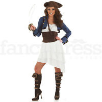 Adult Ra Ra Pirate Fancy Dress Costume Caribbean Sailor Ladies Womens Female
