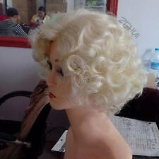 NEW WIG LIGHT BLONDE TEASED CURLY 60'S BOUFFANT WIG~DRAG QUEEN COSTUME SHOWGIRL