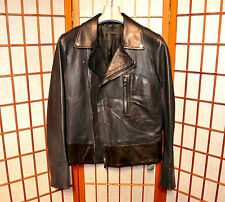DIESEL BLACK GOLD PERFECTO BIKER MOTORCYCLE LEATHER JACKET COAT JEAN Medium M 48