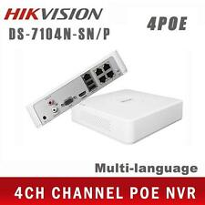 Hikvision 4ch PoE NVR DS-7104N-SN/P Full HD 1080P CCTV Network Video Recorder