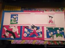 DRAGON BALL DRAGONBALL Z LETTER SHEET PAPEL DE CARTA 5 HOJAs ILUSTRADA