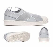 Adidas superstar slip on femme uk 5.5 clear onix blanc baskets rrp £ 64.99. neuf