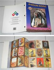Album AMERICAN INDIANS The Native collection Fantastic World PMC Stickers Cards