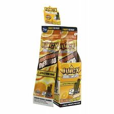 1 Pack of 2 BLUNT WRAP JUICY JAY'S - ORANGE OVERLOAD - ROLLING PAPER *ZIP PACK*