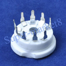8PC Ceramic Tube socket 9pin PCB Mount B9A Base 12AX7 12AU7 6N11 6922 6DJ8 ECC88