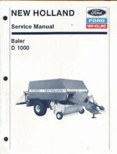NEW HOLLAND D1000 BIG BALER SERVICE MANUAL