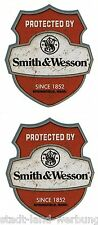 2x Smith&Wesson Aufkleber Sticker Oldschool Retro Hot Rod Rockabilly US Car OEM