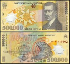 Romania 500,000 (500000) Leu (Lei), 2000, P-115, Circulated, USED
