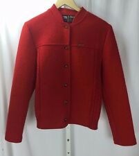 Eisbar Red Wool Knit Button Sweater Sz 42LM