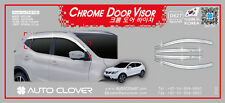 Autoclover Chrome Wind Deflectors Windabweiser 6P for 2014 ~ 2016 Nissan Qashqai