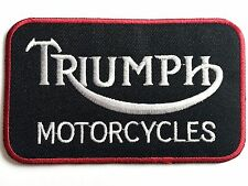 XL TRIUMPH MOTORCYCLE PATCH British Heritage biker badge classic black white red