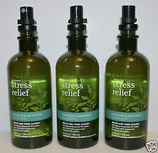 3 BATH & BODY WORKS AROMATHERAPY STRESS RELIEF EUCALYPTUS SPEARMINT PILLOW MIST