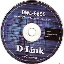 D-Link Air-PlusXtremeG - Wireless Cardbus Adapter DISC ONLY DWL-G650 Ver. 2.54