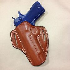 "LEFT HAND Leather  Holster COLT / KIMBER / RUGER 1911  5"" bbl   - (# 6011L Brn)"