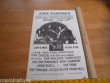 Joey Ramones Dee Dee Tribe Waldos CA 1980s ORIGINAL Punk Rock concert poster