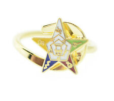 Masonic OES Order of the Eastern Star. Gold-Plated Adjustable One Size fits most
