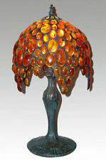 LUXURY TIFFANY LAMP -AMBER TABLE AND BEDSIDE LAMP- IRIS*** Height -17""