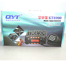 QYT KT8900 Mini Mobile Radio Transceiver 136-174/400-480 +  Programming Cable