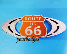NEW Enamel Chrome Route 66 car badge for American Muscle Car