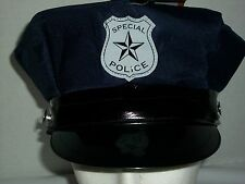 Halloween Special Police Officer Uniform Hat Adult One Size Dress Up Blue