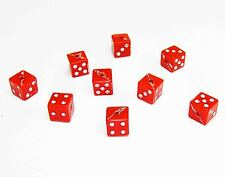 NEW Fun 30PCS Jewelry Square Dice Beads Opaque Acrylic Cube Dice 7x7MM red