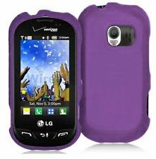 Hard Rubberized Case for LG Extravert VN271 - Purple