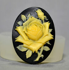 Rose Cameo  SILICONE MOULD Cupcake polymer clay chocolate resin fimo mold