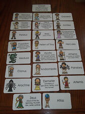 23 Greek Mythology Flashcards.  Preschool thru 4th grade History educational act