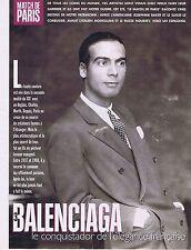 Coupure de presse Clipping 1995 Cristobal Balenciaga (3 pages)
