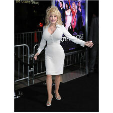 Dolly Parton at Premiere Standing in White 8 x 10 Inch Photo