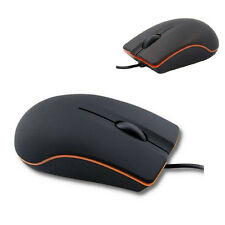 Black USB Scroll Wheel 3D Wired Optical Mouse For PC Laptop Notebook Computer