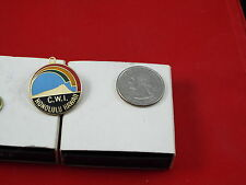 C.W.I. HONOLULU HAWAII WITH RAINBOW LAPEL PIN ( NOT SURE WHAT TOP LOOP IS FOR )