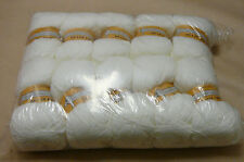 Joblot Aran Yarn Full Pack 10 x 100 Grms White