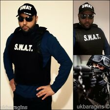 MENS SWAT TEAM VEST FANCY DRESS COSTUME POLICE FBI TACTICAL MILITARY STYLE ADULT