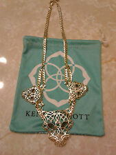 Kendra Scott Alexandria Panther Filigree Bib Statement Necklace Rare HTF