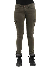 NWT FLYING MONKEY JEANS Skinny Cargo Pants L9417-AG Army Green 24 25 26 27 28 29