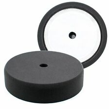 "BUFF and SHINE 8"" Black Recessed Foam Buffing Pad - Finishing #2000G"