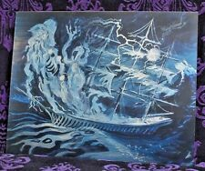 BIG Haunted Mansion lenticular Ghost Ship 6 images Disneyland Disney World RARE